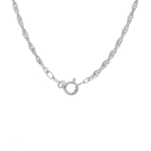 Classic Estate 925 Silver Rope Spring Ring Clasp Rope Chain Necklace - 25 Inch