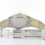 Pre-Owned Rolex Two-Tone SS & Yellow Gold Date-just Original Diamond Dial Watch