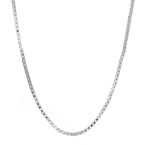 Ladies Vintage Classic Estate 925 Sterling Silver Box Chain Necklace - 16 inch