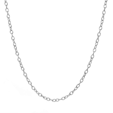 Ladies Vintage Classic Estate 925 Sterling Silver Cable Chain Necklace - 18 inch