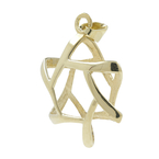 Vintage Classic Estate 14K Yellow Gold Star of David Pendant - 19mm Width
