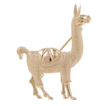Vintage Classic Estate 14K Rose Gold Lama Shaped Animal Pin Brooch