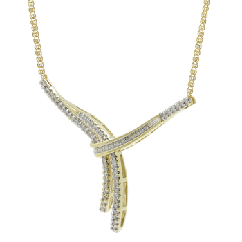 Ladies Vintage Classic Estate 10K Yellow Gold Diamond Unique Design Necklace