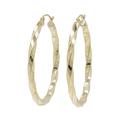 Ladies Classic Estate 14K Yellow Gold Twisted Design Huggie Hoop Earrings