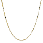 Ladies Vintage Classic Estate 14K Yellow Gold Box Chain Necklace - 18 inch