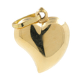 Ladies Vintage Classic Estate 18K Yellow Gold Puffed Heart Pendant - 21mm