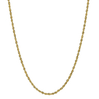 Ladies Men's Classic Estate 14K Yellow Gold Rope-Style 18-inch Chain Necklace