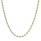 Ladies Men's Classic Estate 14K Yellow Gold Rope-Style 20-inch Chain Necklace