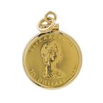 Vintage 1982 Canada 1/4 oz Gold Maple Leaf $10 Elizabeth II Coin 14K Yellow Gold Charm Pendant