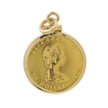 Vintage 1982 Canada 1/4 oz Gold Maple Leaf $10 Elizabeth II Coin 14K Yellow Gold Charm Pendant