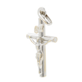 Vintage Estate 14K White Gold Religious Cross Crucified Jesus Pendant - 25.5mm