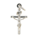 Vintage Estate 14K White Gold Religious Cross Crucified Jesus Pendant - 25.5mm