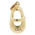 Ladies Vintage Classic Estate 14K Yellow Gold Baby Shoe Charm Pendant - 23mm