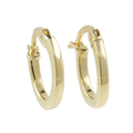 Ladies Vintage Classic Estate 14K Yellow Gold Round Hollow Hoop Earrings - 14mm
