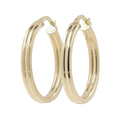 Ladies Vintage Classic Estate 14K Yellow Gold Round Hoop Earrings - 24.75mm