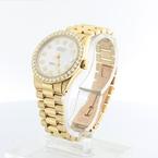 Ladies Rolex 18k Solid Gold Midsize President 6827 Custom Diamond Dial & Bezel