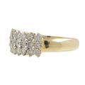 Ladies Vintage Estate 14K Yellow Gold Diamond Ring & Hoop Earrings Jewelry Set - 4.41CTW