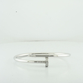 Cartier 18K White Gold & Diamond Juste Un Clou Nail Bracelet In Box Size 18