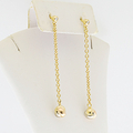 Ladies Cartier Trinity Diamond 18k Tri-Color Gold Love Knot Drop Dangle Earrings