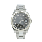 Rolex Datejust 116334 Oyster Perpetual Stainless Steel Slate 18k Gold Watch