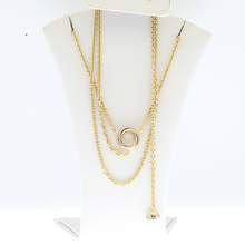 Authentic Cartier Trinity 18k Tri-Color Extra Long Lariat Knot Necklace Chain