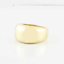 Ladies 100% Authentic Cartier 18K Yellow Gold Dome Nouvelle Vague Ring Size 8