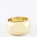 Ladies 100% Authentic Cartier 18K Yellow Gold Dome Nouvelle Vague Ring Size 8