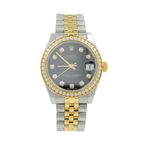 Women's Rolex Datejust Jubilee 178383 Two Tone 18K Yellow Gold  Diamond Dial Bezel Watch