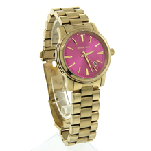 Ladies Michael Kors MK5801 Gold-Tone Round Pink Dial Stainless Steel Watch - 38mm