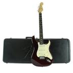 2006 Fender Standard Stratocaster Burgundy Electric Guitar w/ Hardshell Case