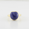 Ladies Estate Tiffany and Co 18K Yellow Gold Elsa Peretti Lapis Ring