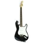 Squier by Fender Strat Electric Guitar  - Made in China - Black