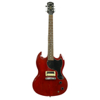 2002 Epiphone Gibson Junior SG Style 6 String Electric Guitar - Cherry Red