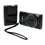 Canon PowerShot ELPH 350 HS 20.2MP 12x Optical Zoom Digital Camera - Black