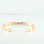 100% Authentic Designer Cartier 18k Rose Gold Love Bracelet Cuff Size 19