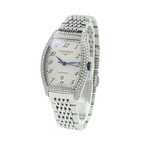 Ladies Longines Evidenza Date Stainless Steel Automatic White Dial L2.142.0.73.6