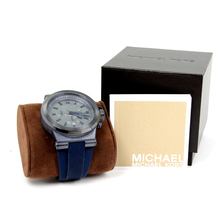 Men's Michael Kors Dylan Chronograph 48mm Watch - Blue Rubber Band - MK-8493
