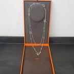 100% Authentic Ladies Hermès Farandole 925 Silver Chaine d'Ancre Necklace