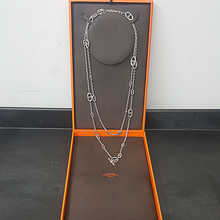 100% Authentic Ladies Hermès Farandole 925 Silver Chaine d'Ancre Necklace