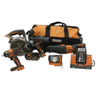 Ridgid X4 Cordless Combo Kit  - Hammer Drill - Impact Driver - Circular Saw