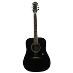 Epiphone DR-100 Acoustic Guitar DR100 w/ Hardshell Case - Black