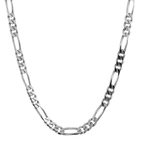 Men's Vintage Classic Estate 925 Sterling Silver Figaro Link Chain - 24 inch