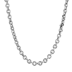 Vintage Classic Estate 925 Sterling Silver Cable Chain Necklace - 26 inch