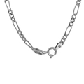 Vintage Estate 925 Silver Figaro Spring Ring Clasp Chain Necklace - 18 inch