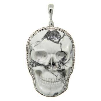 Men's Vintage Classic Estate 925 Sterling Silver Skull Charm Pendant