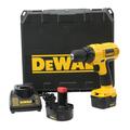 "DeWalt DC727 12V 3/8"" Cordless Drill/Driver - 2 Batteries - Charger - Case"