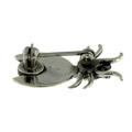 Vintage Estate 925 Sterling Silver Beetle Bug Animal Green Turquoise Enamel Pin Brooch - 18mm