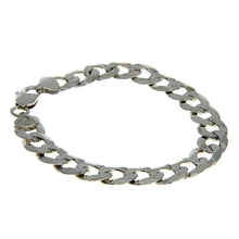 Mens Vintage Estate 925 Sterling Silver Cuban Curb Link Chain Bracelet - 7 inch