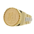 Men's Vintage Estate 1945 Estados Unidos Mexicanos Dos Pesos Gold Coin Ring