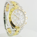 Rolex Cosmograph Daytona Yellow Gold Steel MOP Dial Diamond Markers 116523 Watch